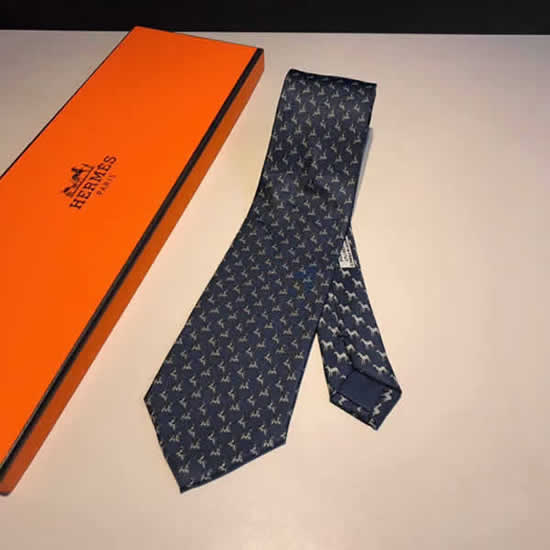 Classic Men Business Luxury Tie Replica Top Quality Hermes Ties 26