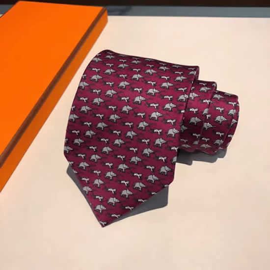 Classic Men Business Luxury Tie Replica Top Quality Hermes Ties 29