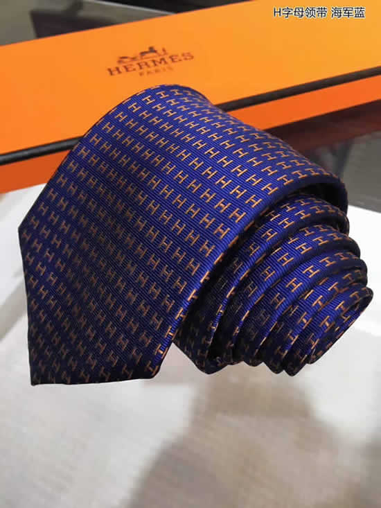 Classic Men Business Luxury Tie Replica Top Quality Hermes Ties 34