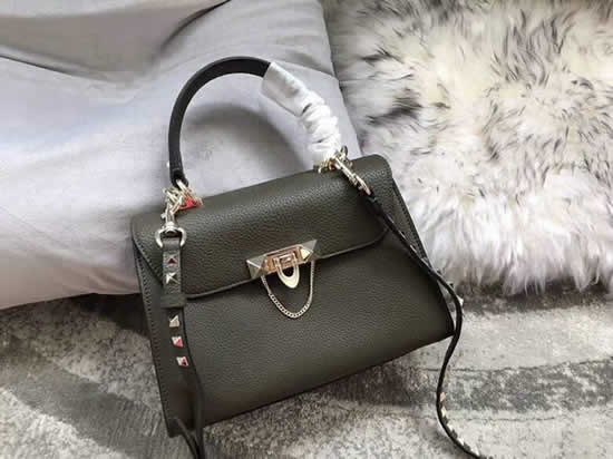Fake Discount Valentino Green One Shoulder Clam Crossbody Bag