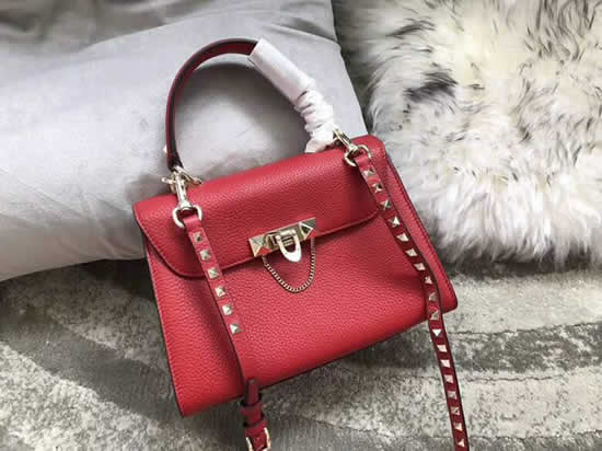 Fake Discount Valentino Red One Shoulder Clam Crossbody Bag