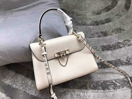 Fake Discount Valentino White One Shoulder Clam Crossbody Bag