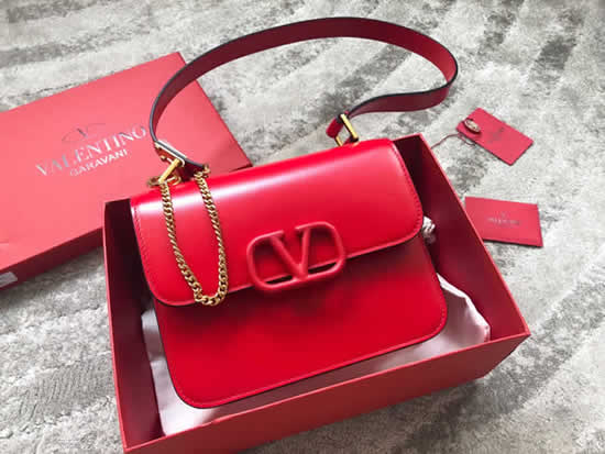 Fake Discount New Valentino New Retro Red Shoulder Bag 0074L