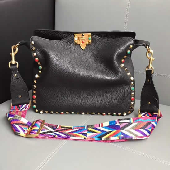Hot Sale High Quality Valentino Black Shoulder Bag 50031m