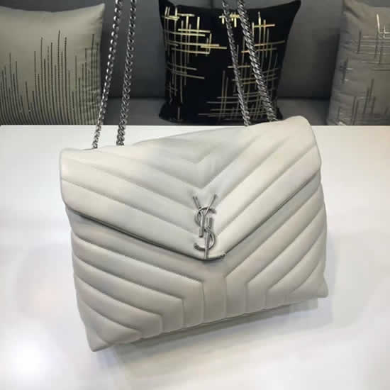 Knock Off Yves Saint Laurent Classic Flap Bag Leather White Crossbody Bag