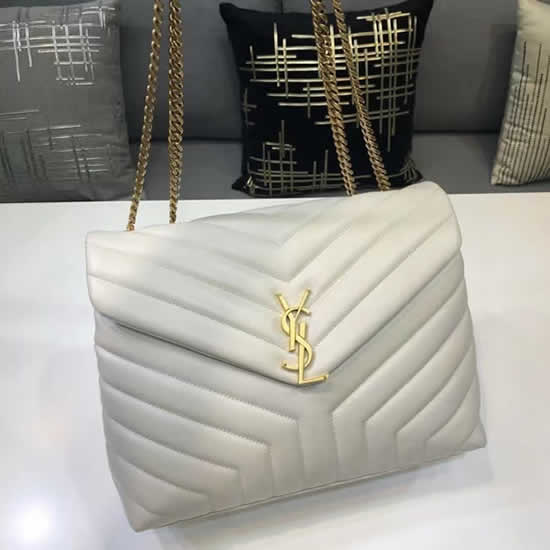 Knock Off Yves Saint Laurent Classic White Flap Bag Leather Crossbody Bag