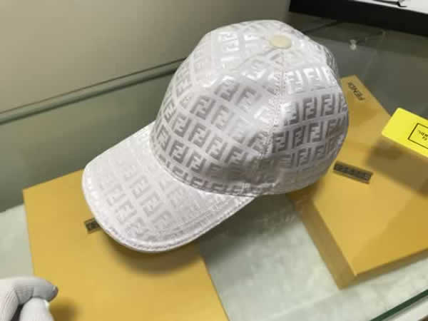 Fendi Spring Unisex Cotton Baseball Cap for Men Women Summer Casual Snapback Hat Street Style Hip Hop Hats Outdoor Dad Hats