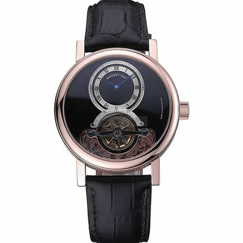 Breguet Classique Grande Complication Tourbillon Gold Case Black Dial Black Leather Strap 622211
