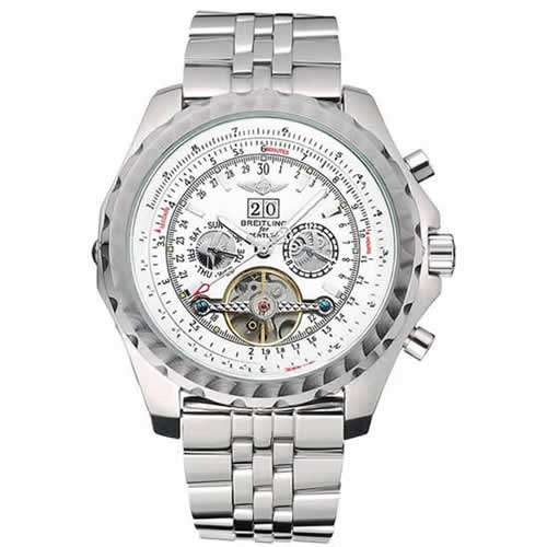 Breitling Bentley Mulliner Tourbillon White Dial Stainless Steel Case And Bracelet  622732