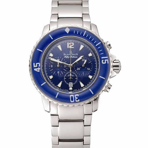 Blancpain Fifty Fathoms Flyback Chronograph Blue Dial Stainless Steel Case And Bracelet 1453773