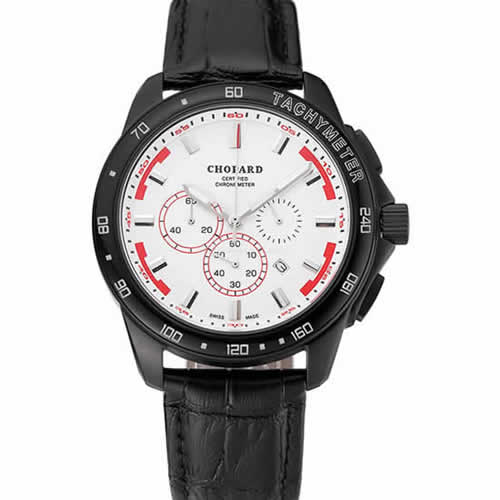 Chopard Mille Miglia GTS White Dial Black Leather Bracelet 1453999