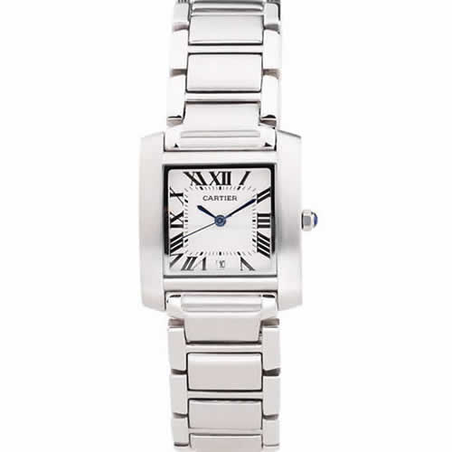 Cartier Tank Francaise 29mm White Dial Stainless Steel Case And Bracelet