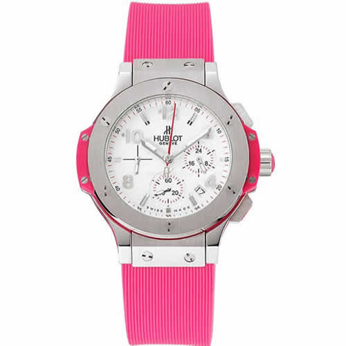 Hublot Big Bang Pink Strap White Dial Watch