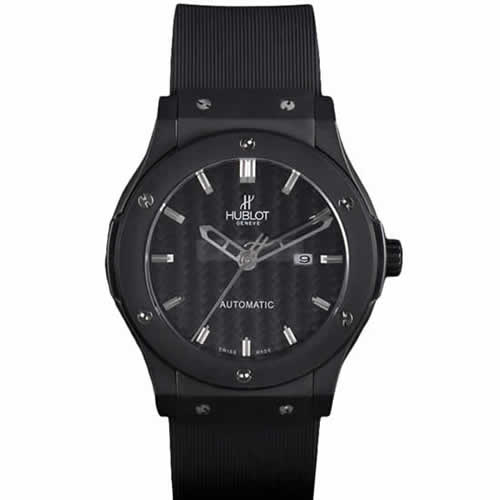 Hublot Big Bang Black Rubber Strap Black Checkered Dial 80193