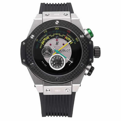 Hublot Big Bang Unico Bi-Retrograde Chrono King Stainless Steel Case Black Rubber Strap  622770