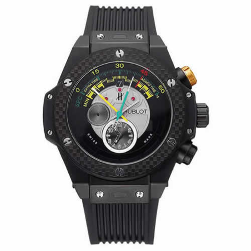 Hublot Big Bang Unico Bi-Retrograde Chrono King Black Steel Case Black Rubber Strap  622771