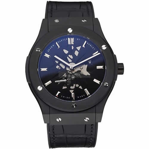 Hublot Classic Fusion Shawn Carter Black Steel Case Black Leather Strap  622817