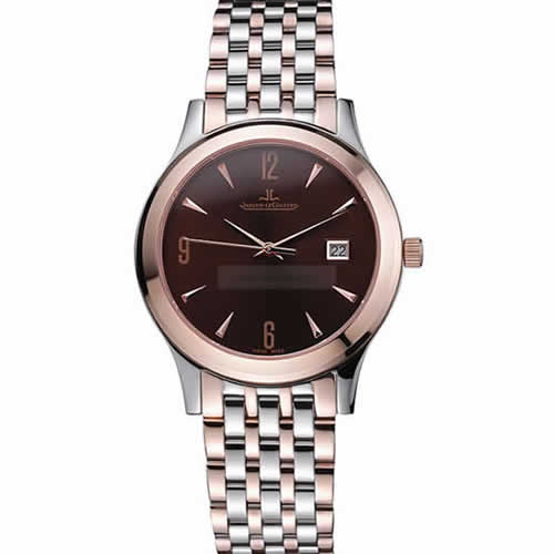 Jaeger LeCoultre Master Brown Dial Rose Gold Bezel Two Tone Band  622091