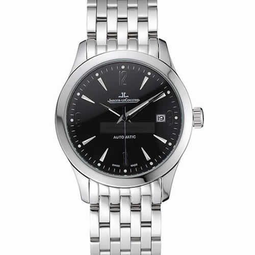Jaeger LeCoultre Master Black Dial Stainless Steel Bezel Stainless Steel Band  622093