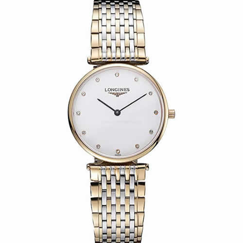 Longines La Grande Classique Two Tone Band White Dial Diamond Markers Homme  622101