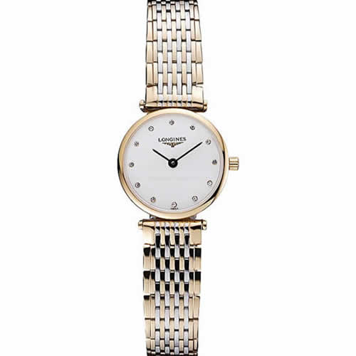 Longines La Grande Classique Two Tone Band White Dial Diamond Markers Femme  622102