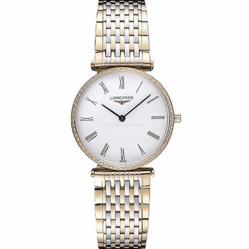 Longines La Grande Classique Two Tone Band White Dial Diamond Bezel Homme  622103