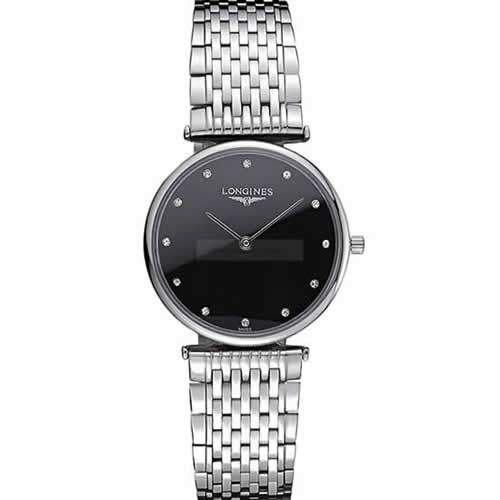 Longines La Grande Classique Stainless Steel Black Dial Diamond Markers Homme  622111
