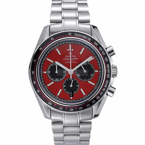 Omega Speedmaster Red Grey Stainless Steel Strap  622054