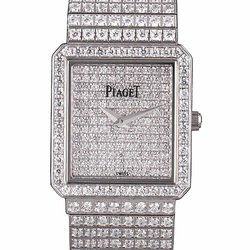 Piaget Swiss Limelight Diamonds Encrusted Stainless Steel Watch 80295