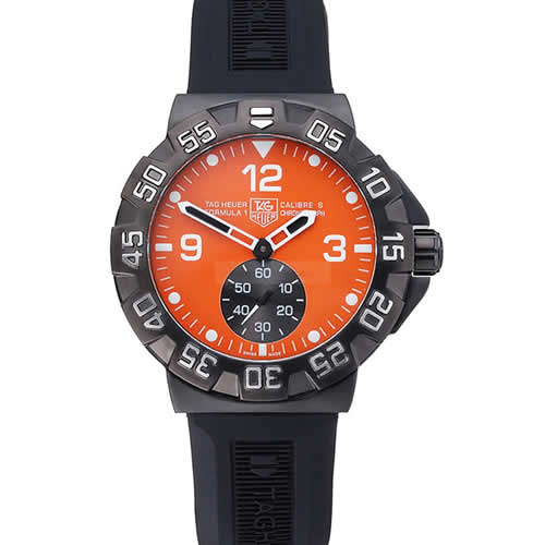 Tag Heuer Formula One Grande Date Orange Dial Rubber Bracelet 622278