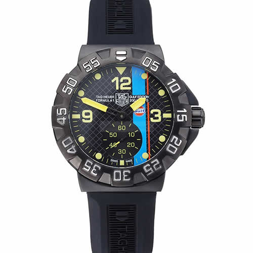 Tag Heuer Formula One Grande Date Black And Yellow Dial Rubber Bracelet 622280
