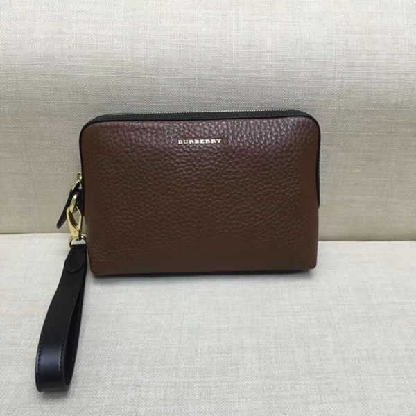 Fake Burberry New Men'S Hand Bags Brown Clutch Bags