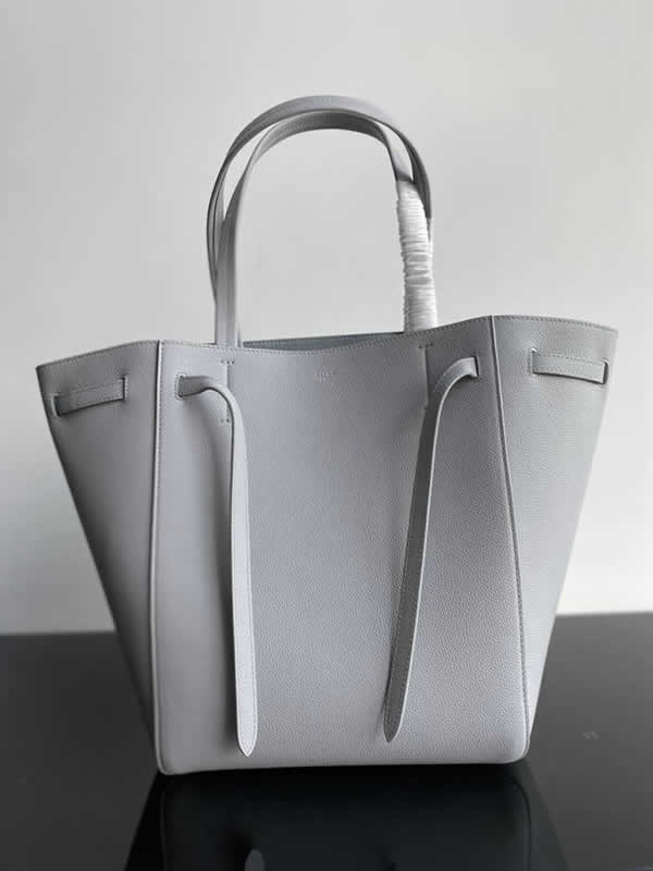 Replica Fashion Celine Cheap Cabags Phantom Light Grey Handbags High Quality