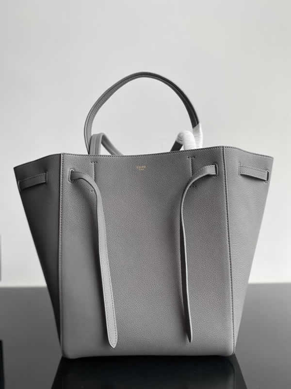 Replica Fashion Celine Cheap Cabags Phantom Dark Gray Handbags High Quality