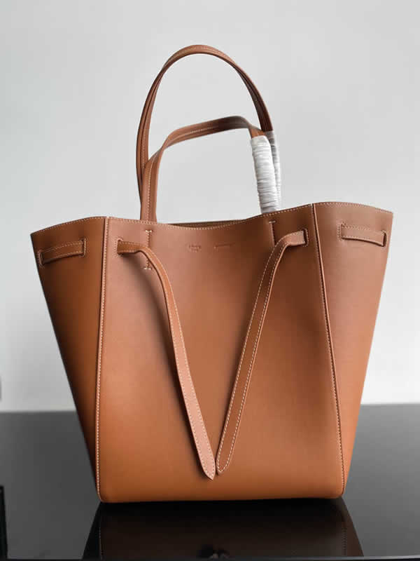 Replica Fashion Celine Cheap Cabags Phantom Brown Handbags High Quality