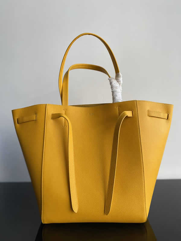 Replica Fashion Celine Cheap Cabags Phantom Lemon Yellow Handbags High Quality