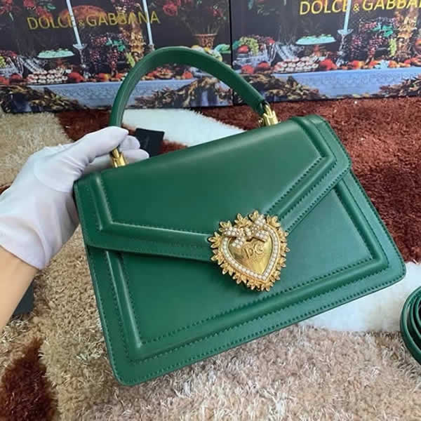 Wholesale Discount Fake Dolce & Gabbana High Quality Green Hand Flip Bag