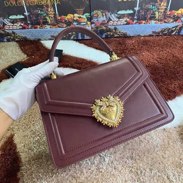 Wholesale Discount Fake Dolce & Gabbana High Quality Red Wine Hand Flip Bag