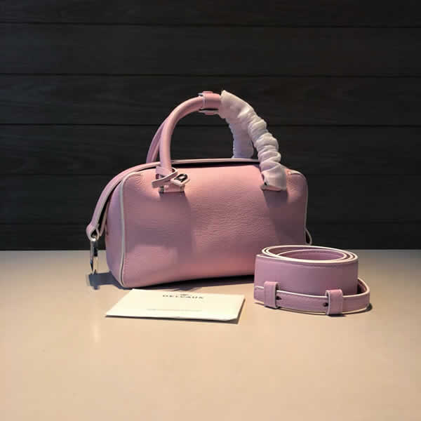 Fake Delvaux Luxury Cool Box Pillow Bag Pink Hand Messenger Bag