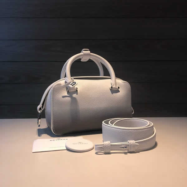Replica Delvaux Luxury Cool Box Pillow Bag White Hand Messenger Bag