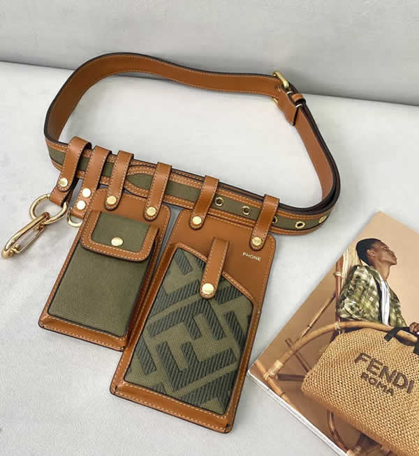 Replica Fendi Multifunctional Green Phone Bag Waist Bag 593