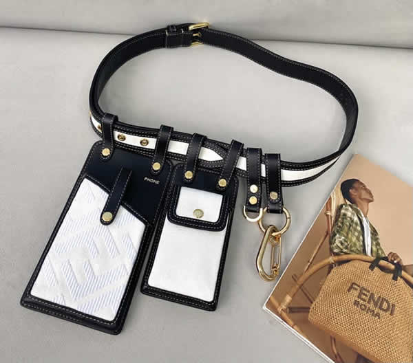 Replica Fendi Multifunctional White Phone Bag Waist Bag 593