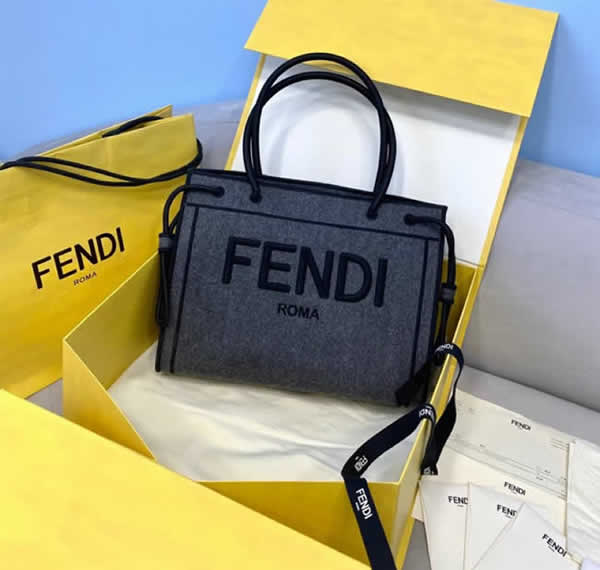 Replica Fendi Blue Roma Medium Tote Bag Shoulder Bags 70274