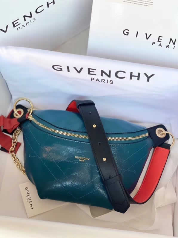 Fake Givenchy Spring And Summer New ID Belt Bag Blue Messenger Bag