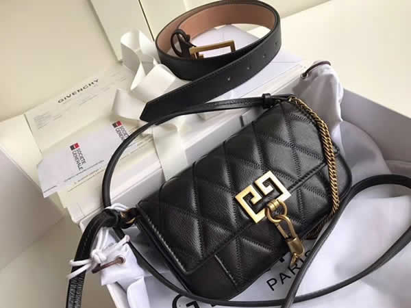 Fake Givenchy Sheepskin Crossbody Black Bag Shoulder Bag Waist Bag