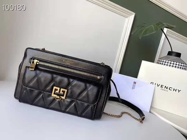 Replica Givenchy Autumn And Winter New Pocket Long Chain Black Shoulder Messenger Bag