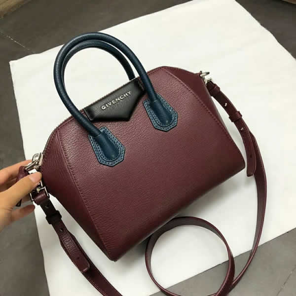 Replica Givenchy Antigona Mini Red Wine Handbag With High Quality