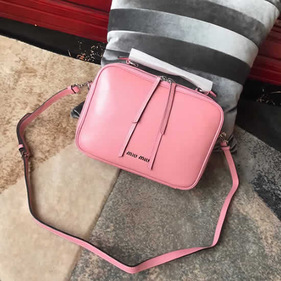 Replica High Quality Miu Miu Pink Shoulder Messenger Bag 5VT003
