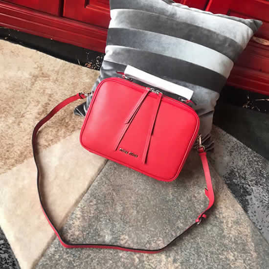Replica High Quality Miu Miu Red Shoulder Messenger Bag 5VT003