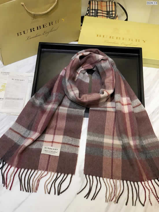 Women Scarves Autumn Winter New Female Wool Scarf Fake Burberry Scarves 19
